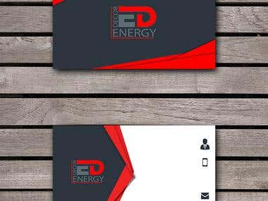 Business Card Design for Energy Decor