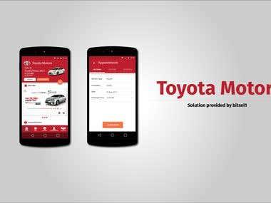 Toyota Motors Mobile Application