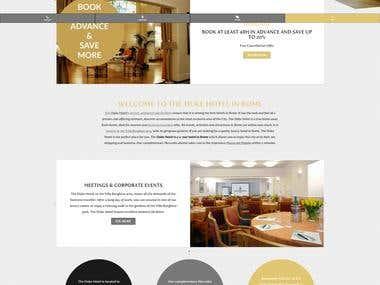Web Design - The Duke Hotel