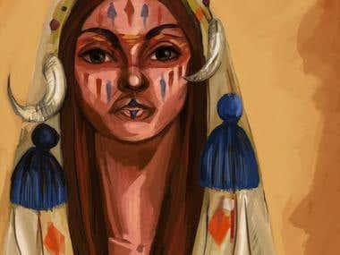 Digital portrait of native