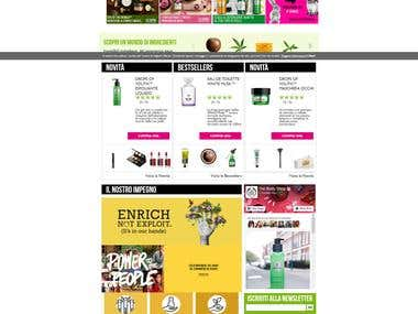 Web Design - The Body Shop Italia
