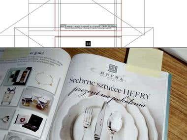 Magazine advertisign design