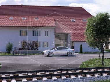 Switzerland house - Architectural visualization