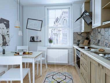 Kitchen modeling - Architectural visualization