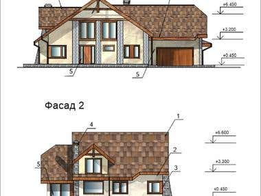 A house project in CorelDraw