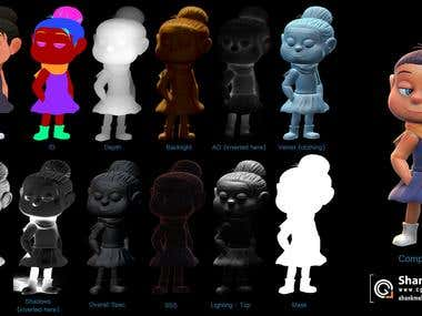 Enid 3d character