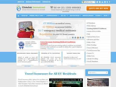 Custom CMS  for a travel insurance website