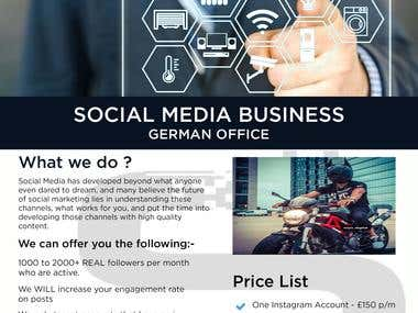 Social Business Flyer