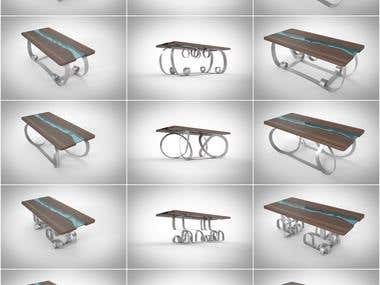 3D furniture design and rendering