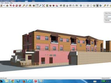 Sketchup model a existing buiding