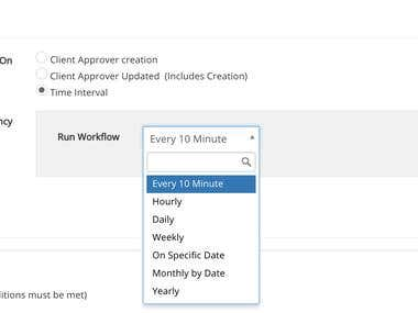 Customized Time Interval for Vtiger Workflow Scheduler