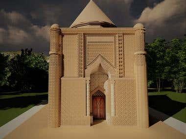 3D modelling of Aisha Bibi Mausoleum