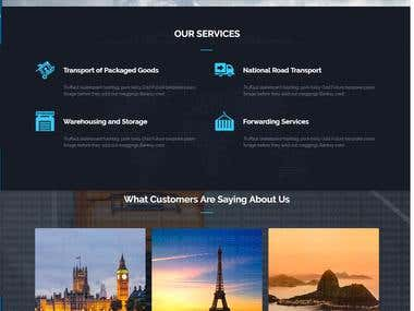 Website for DSAY Logistics