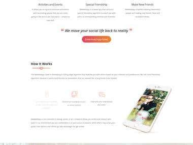 Wemeet Landing Page Design