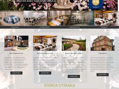 Making the website for catering business bakarnilonac.com