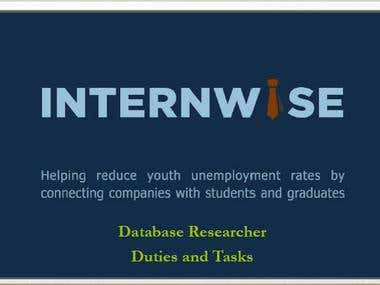 Database Researcher for Internwise