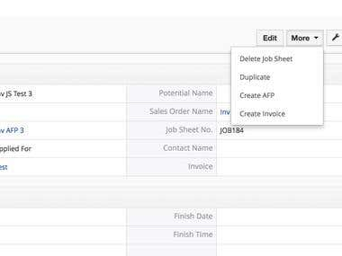 Create Invoice from Custom Inventory Module