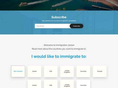 Immigration website