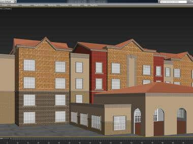 3D Model and Texture of a Dormitory