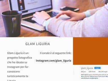 Progetto Instagram Glam Liguria