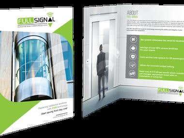 Bi fold brochure for modern GSM link to elevators