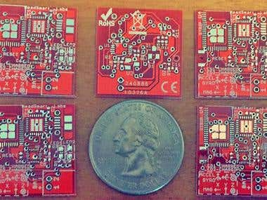 BLE+IMU+MCU+USB+LiPo Charger on 22x22mm size pcb