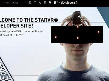Development management of the website https://developer.star