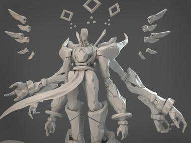 3D Character Design and Sculpture