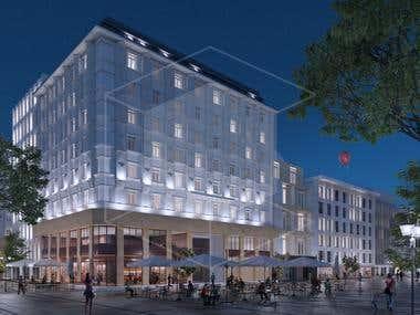 Riuniona building - Architectural visualization