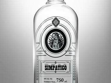 Vodka botle design