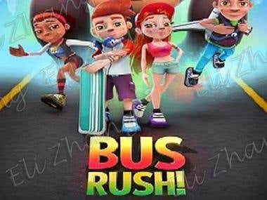 Bus Rush Unity3D Mobile Game