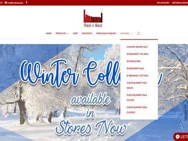 Red N Bed The bed-sheet Website