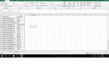 Using excel to connect information between sheets.
