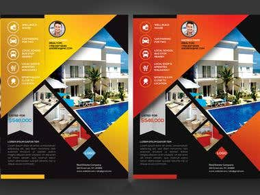 Flyer for selling houses