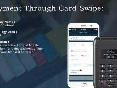 Payment Through Card Swipe