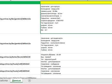 VBA Description Scraping from http//onliner.by