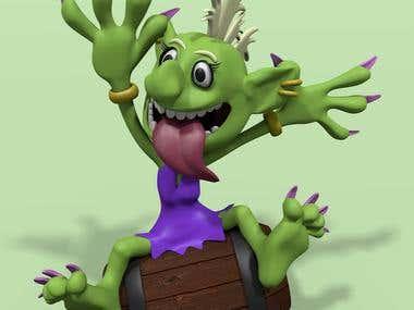 3D Model of Troll