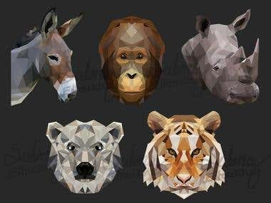 Lowpoly Animals illustrations