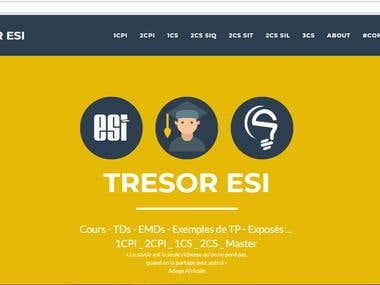 TRESOR ESI - website for students