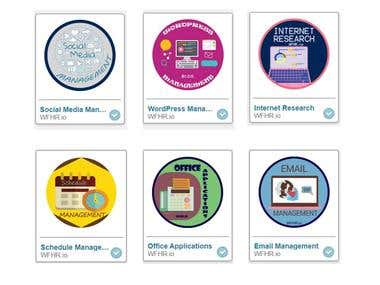 Virtual Assistant Bootcamp Badges