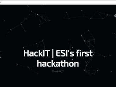 Hack it - website for an event