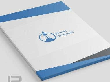 Folder design for Oficina de vendas