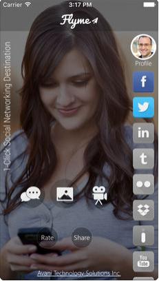 FlyMe 1- Click Social Networking Destination