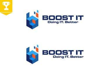 BOOST IT Logo Design