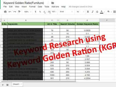 Keyword Golden Ratio (KGR research)
