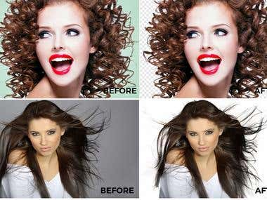 Photo editing, manipulation, retouching, Background Removal
