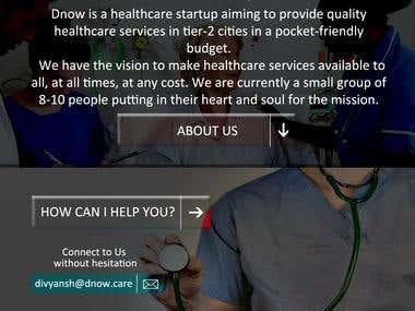 Landing Page - Medical Startup