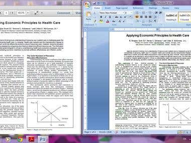 Conversion of pdf file into word document