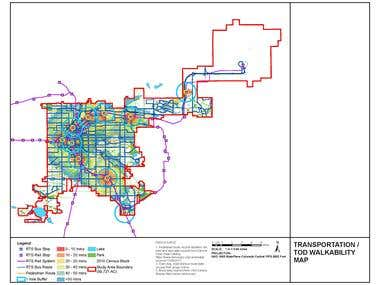 TRANSPORTATION / TOD WALK ABILITY MAP