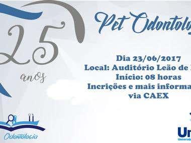 Convite 25 anos do grupo PET Odontologia